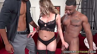 Busty Blonde Kayley Gunner Has Threesome Sex With BBC - Cuckold Sessions