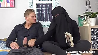Lonely muslim has sex with caring friend