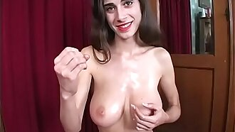 Oiled titties jerk session - Jerk Off Instructions Classic
