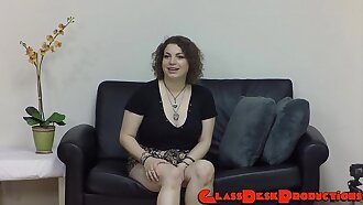 Mazie - New girl gets it hard core on casting couch