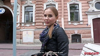 Beautiful girl lured into sex with experienced porn agent
