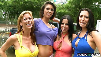 Hot gangbang after a hard work show one's age