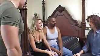 Blonde MILF Swinger Rough Anal Tryout