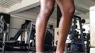 Working my legs hard to fuck