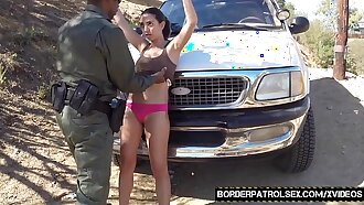 Teenie latina stripped searched and fucked