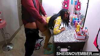 Give Me This Butt Slut! Pirate Stepdad Hunt For Anal In Ebony Stepdaughter Asshole on Sheisnovember Boodle Cheeks While Her Mother Is Away, Creeping Into Her Bathroom To Fuck Me Screaming in pain on Sheisnovember