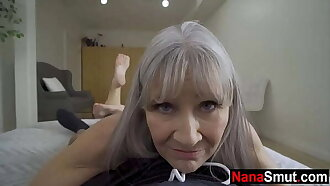 My step grandmother is a sex maniac! - old & young